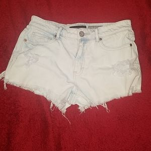 Aeropostale High Waisted Distressed Shorts